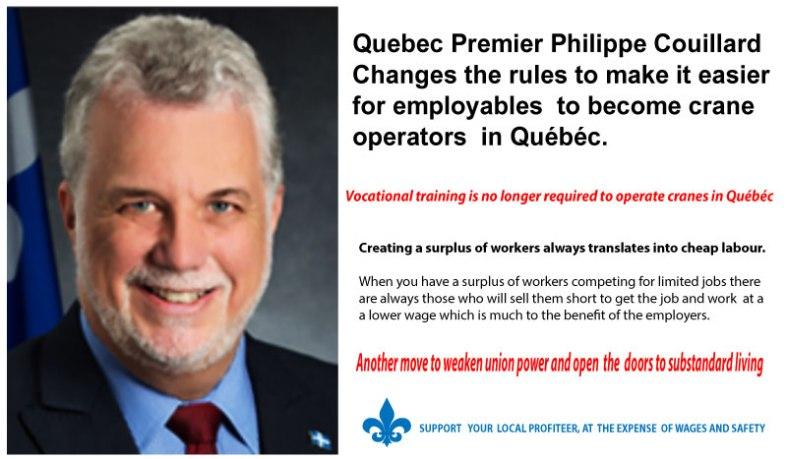 Québéc Strike Crane Operators